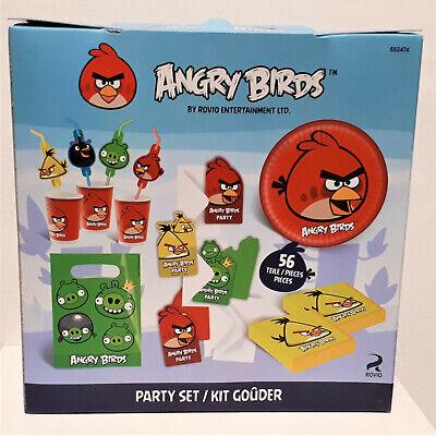 56 tlg Angry Birds  Party-Set Geburtstag Becher Teller Servietten Geschenk-Box (Angry Birds Teller)