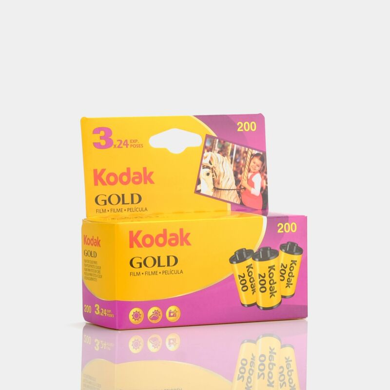 Kodak Gold 200 Color 35mm Film (24 Exposures) - 3 Pack