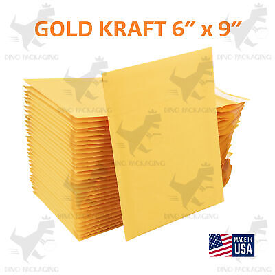 250pc 6x10 6x9kraft Paper Bubble Padded Envelopes Mailer Shipping Case Bags