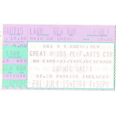 BONNIE RAITT Concert Ticket Stub MANSFIELD MA 7/15/94 GREAT WOODS PERFORMING ART