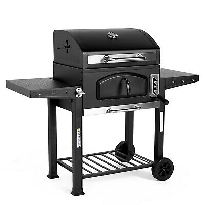 VonHaus Charcoal BBQ - Large American Style Barbecue Grill & Smoker