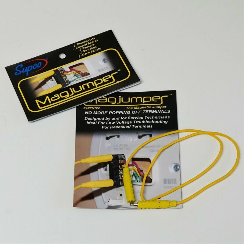 Supco MAG1YL 30 Vac Magnetic Test Leads Jumper Wire Magjumper Yellow