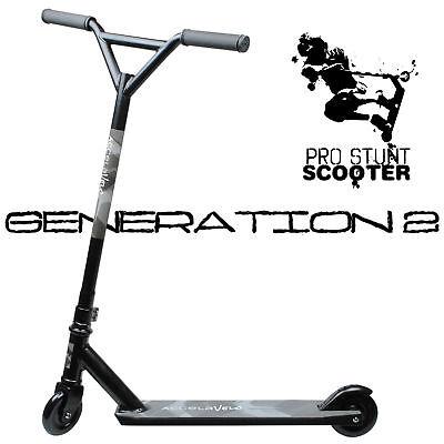 STEALTH BLACK Pro Style Aluminum Stunt Kick Scooter Skatepark BMX Handlebar