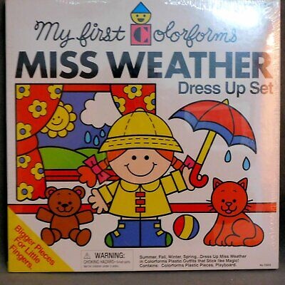 Toy COLORFORMS NRFB MISS WEATHER Factory Sealed RANA'S VARIETY USA SELLER