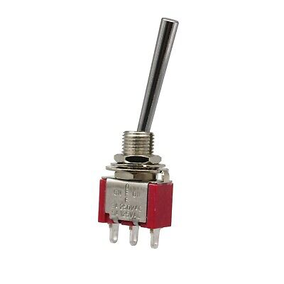 2pcs Sh Long Handle T8014-webq Spdt Mini Toggle Switch Maintained 3pin 3position
