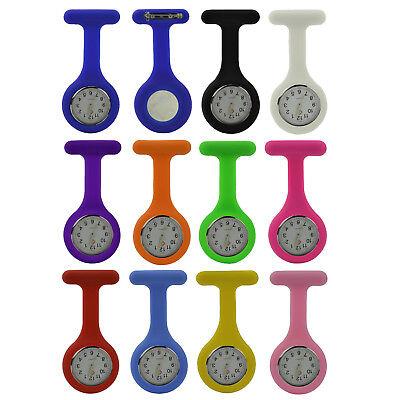 Silikon-Uhr für Krankenschwestern   Sicherheits-Nadel   (fluoreszierende Zeiger) ()