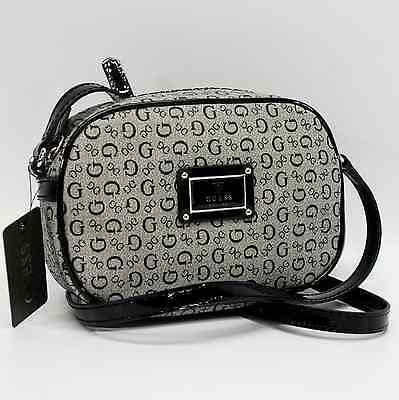 GUESS AUTHENTIC REBA BLACK SIGNATURE SMALL CROSSBODY BAG HANDBAG PURSE NWT