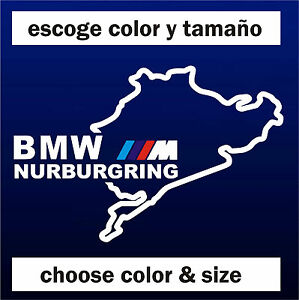 Sticker-Vinilo-NURBURGRING-BMW-MotorSport-Vinyl-Pegatina-ADESIVI-AUFKLEBER