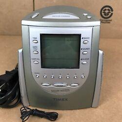 Timex T-309T Nature Sounds AM/FM Radio Large Display Alarm Clock Sleep 2.H1