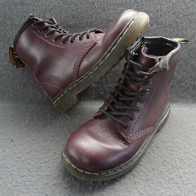 Dr. Martens Brooklee 9 US 8 UK Kids Air Wair Side Zip Lace-Up Purple 8-Eye Boots