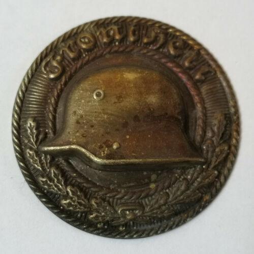 Original German WW 2 Stahlhelm Belt Buckle Top / Overlay Badge