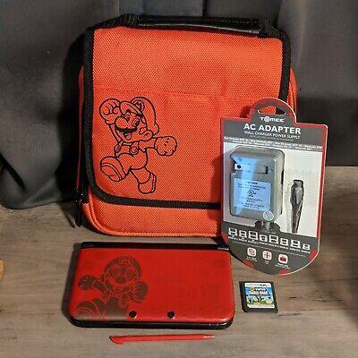 Nintendo 3DS XL Console Super Mario Bros 2 Limited Edition + Extras, Game, Case