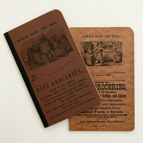 Antique General Store Grocery Pocket Ledgers New/Old Stock