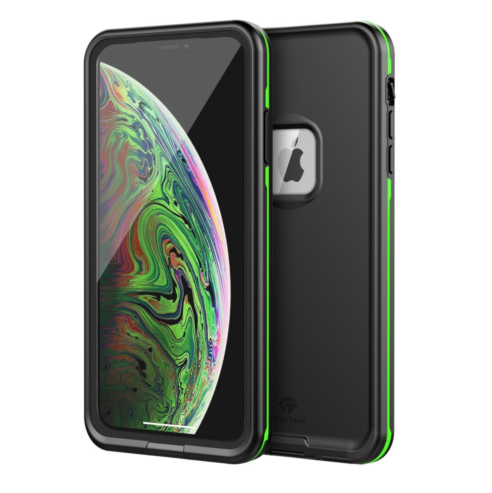 For Apple iPhone XS Max XR Waterproof Case Cover Fre Built-i