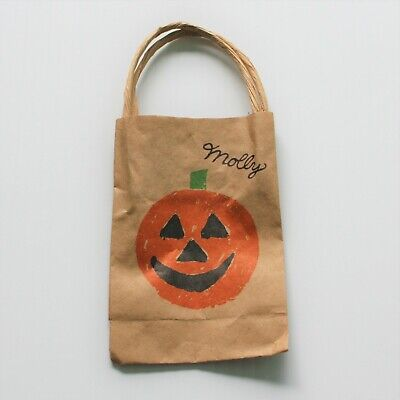 American Girl Molly McIntire Halloween Costume Pumpkin Paper Bag Only For Doll - Halloween Paper Bag Costumes
