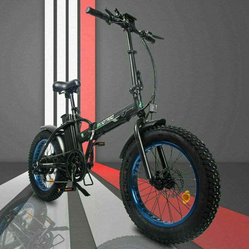 "20"" 48V 12.5 AH 500W Folding Electric Fat Tire Bike Beach Bicycle City Ebike LCD"