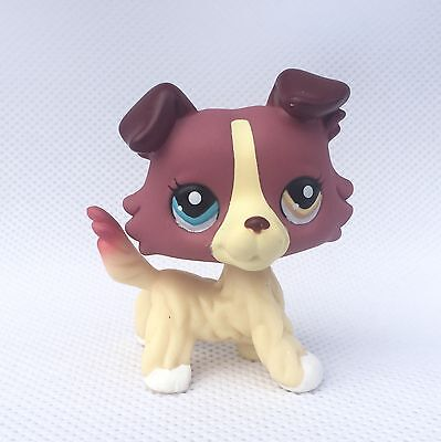 Littlest Pet Shop toys #1262 girls Collection LPS dog figure Red collie