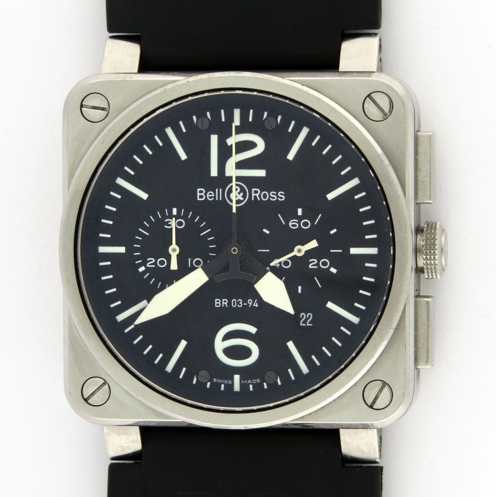 Bell & Ross BR03-94 Automatic Chronograph Instrument Mens Watch 42mm Box/Card - watch picture 1