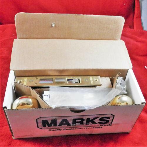 MARKS USA Apartment Entry Metro Brass Heavy Duty Mortise Lockset 91A/3