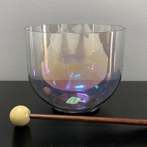 "Cosmic Light F# Perfect Thymus Chakra Rainbow Quartz Crystal 5.25"" Singing Bowl"