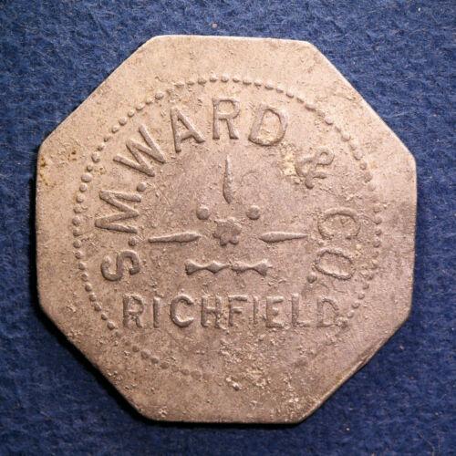 Rare South Carolina rice plantation token- S.M. Ward & Co., 25¢, Richfield, S.C.