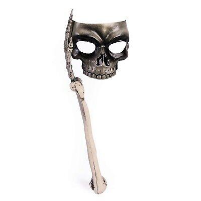 Esqueleto Halloween Máscara Calavera con Hueso Mango Horror Accesorio de Disfraz - De Halloween Esqueletos