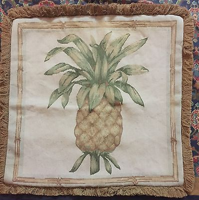 ANTIQUE 19C AUBUSSON FRENCH HAND WOVEN TAPESTRY CUSHION