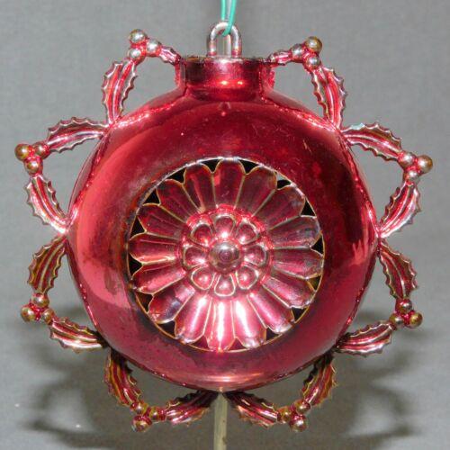 BRADFORD Christmas Ornament Plastic INDENT ROSETTA Ruby Red USA SELLER