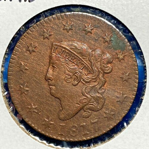 1817 1C Coronet Head Cent, 13 Stars (55784)