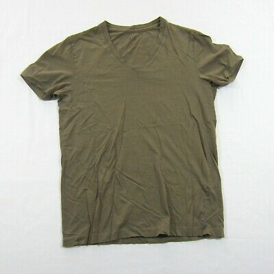 Armani Exchange Mens AX Lot Purple Beige V neck Cotton Tee T-shirt Sz XS