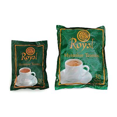 (Royal Myanmar Teamix 3 in 1 Instant Tea Burmese Tea Mix 30 Packets  )