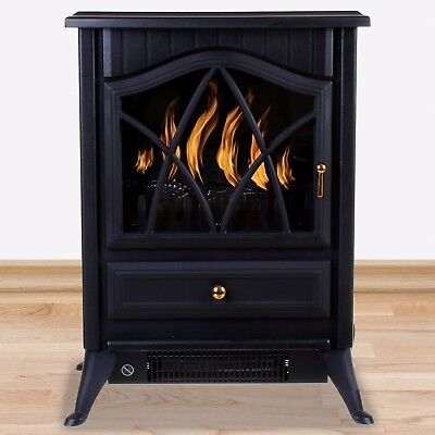 Electric Fireplace 1850W Fire Wood Flame Heater Stove Living Room Log Burner NEW