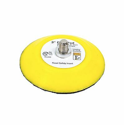 TGR 3 Inch Hook and Loop Sanding Backup Pad 5/16-24 Male Thread with Spacer