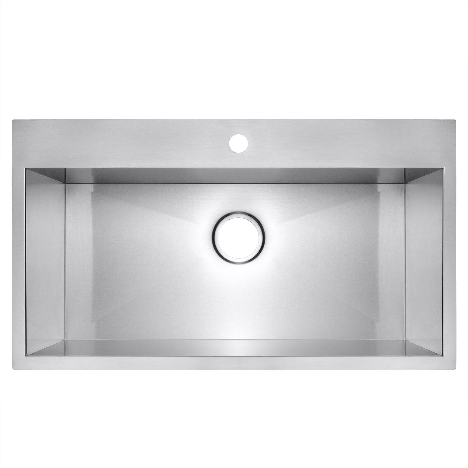 "30"" x 18"" x 9"" Topmount Drop In Single Bowl Basin Stainless"