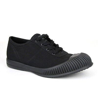 Prada Men's Black Canvas Sneaker with Rubber Sole UK 6 / US 7 (Prada Rubber Sole Sneakers)