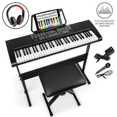 61-Key Beginners Electronic Keyboard Piano Set w/ 3 Modes Mi
