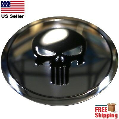 DOME SHAPE 3D Metal Punisher Skull Decal Sticker Emblem 2.20