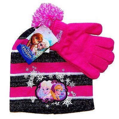Disney Frozen Anna Elsa &olaf Mädchen Strick Wintermütze - Frozen Mädchen Anna Handschuhe