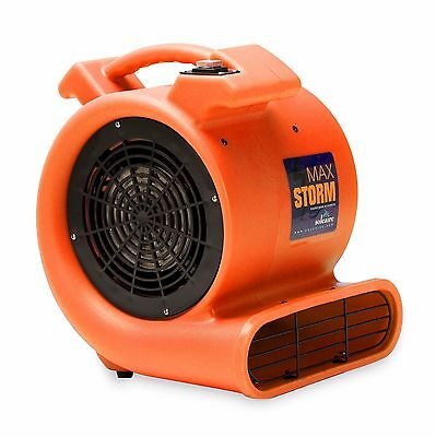 Soleaire Max Storm 12 Hp Air Mover Carpet Dryer Floor Blower Fan Orange