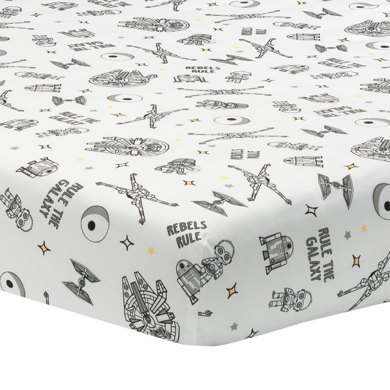 Lambs & Ivy Star Wars Signature Rebels Rule Cotton Fitted Crib/Toddler Sheet