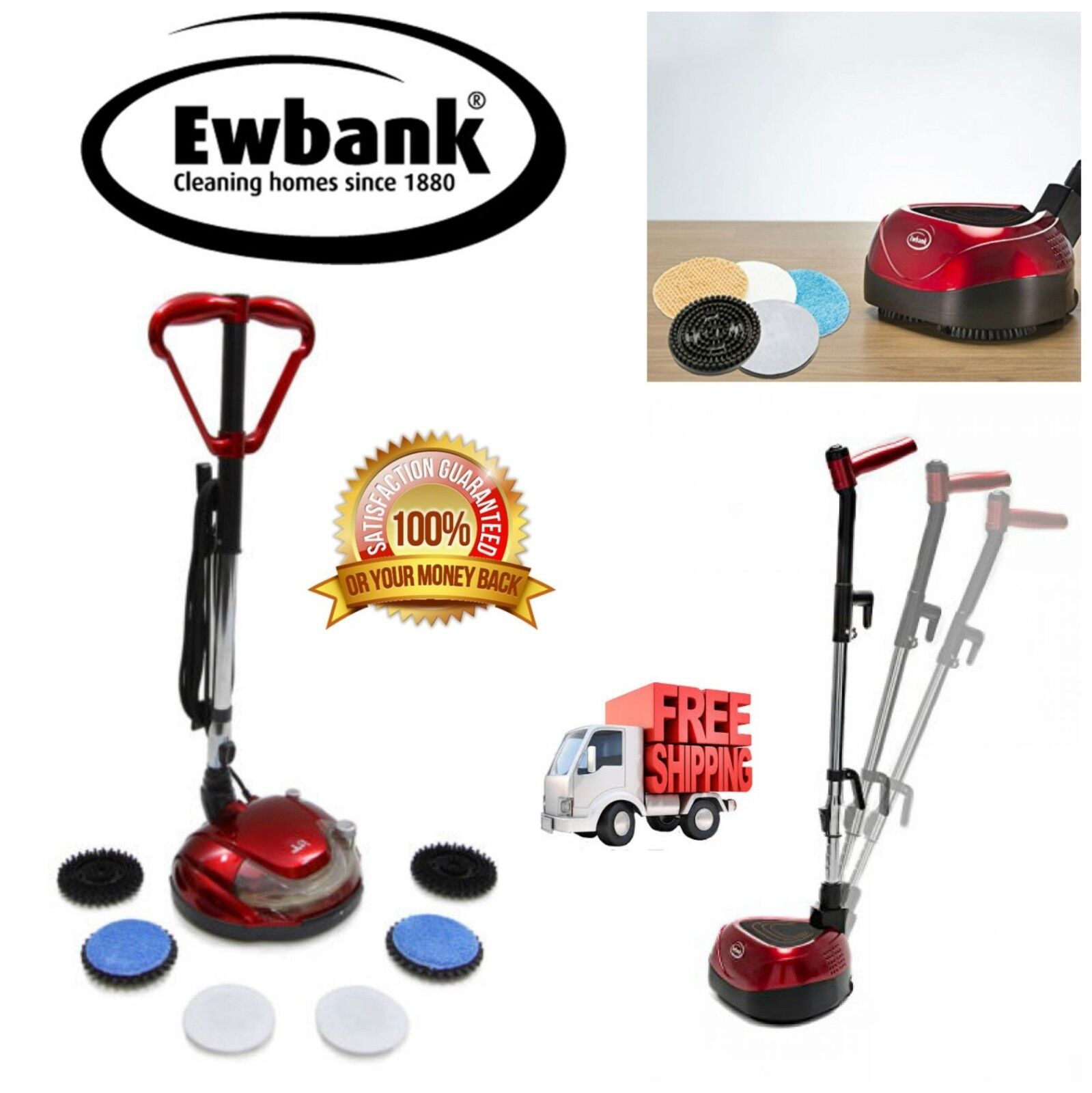 Commercial Floor Cleaner Hard Floor Scrubber Buffer Polisher