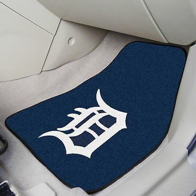 Detroit Tigers 2 Pc Front Carpet Car Truck SUV Floor Mat -