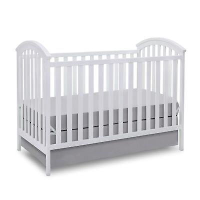 Delta Children Arbour 3 in 1 Convertible Baby Nursery Crib Toddler Bed, White