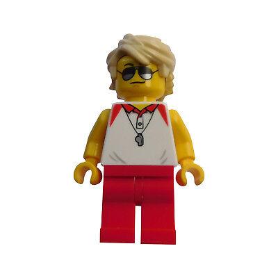 Lego Mann Bademeister Rettungsschwimmer Trainer Minifigur City cty769 Neu 60153