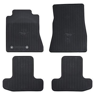 OEM NEW Front  Rear All Weather Floor Mat Set Black 15 18 Mustang FR3Z6313300BA
