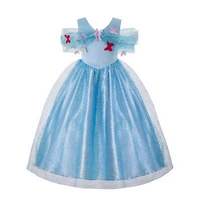 Toddler Girls Cinderella Princess Dress Party Gown Cosplay Costume Fancy - Girls Cinderella Costume