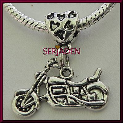 5 Motorcycle Dangle Spacer Charms Bead European Style 25 * 29 mm& 5 mm Hole S032