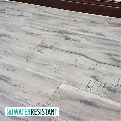 Nibble Grey Washed Sawmilled Acacia Laminate Flooring, Driftwood 12mm