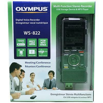 Olympus WS-822 Blue Voice Recorders with 4 GB Built-In-Memor