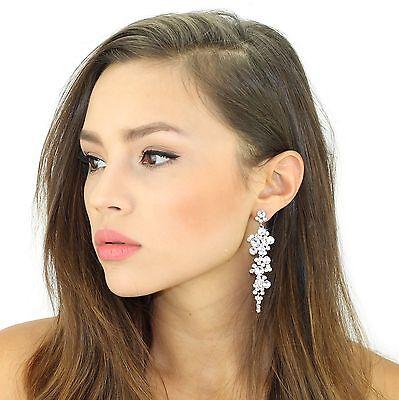 Kristin Perry Cascading Bridal Chandelier Earrings Made with Swarovski (Swarovski Crystals Chandelier Earrings)